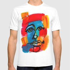 You Have to FaceYourself First White MEDIUM Mens Fitted Tee