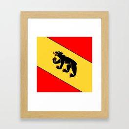 Bern Bear - Swiss City and Canton Crest Framed Art Print