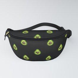 Avocado Hearts (black background) Fanny Pack
