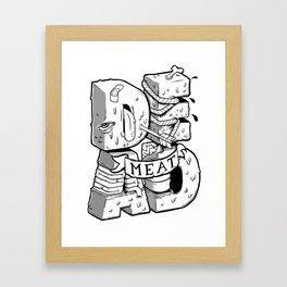 Dead meat Framed Art Print