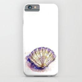 Watercolor Seashell Painting on White 7 Minimalist Coast - Sea - Beach - Shore iPhone Case