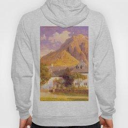 Hans Gude Painting -  Baroniet Rosendal 1849  | Reproduction | Norwegian Art Hoody