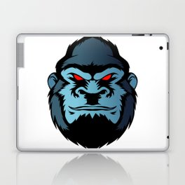 blue gorilla head Laptop & iPad Skin