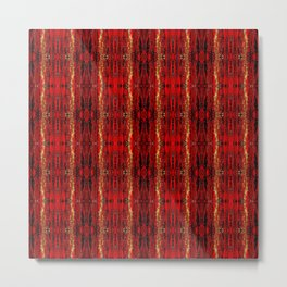 Red Gold, Old Oriental Pattern Metal Print