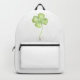 Clover Four Leaf Lucky Charm Green Clovers Backpack