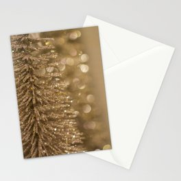 Golden Christmas Gliter Tree Decoration Stationery Cards