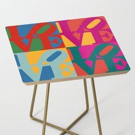 Love Pop Art Side Table
