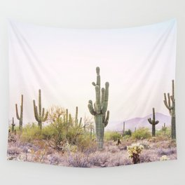 Cactus In The Desert Wall Tapestry