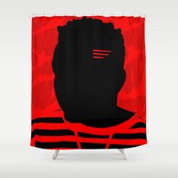 kendrick lamar Shower Curtains featuring Good Kid, Bad Pillow by Rhashad