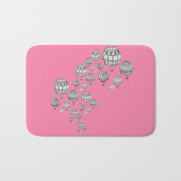 balloons in the pink Bath Mat