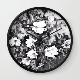 The Flowers Wall Clock