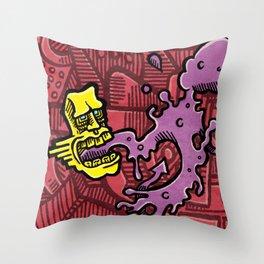 Graffiti Breath Throw Pillow