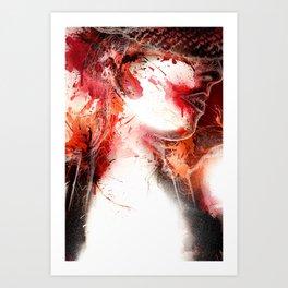 Scarlet O'Harlot Art Print