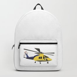 Yellow and Blue Modern Helicopter Backpack