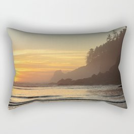 Last Light at Short Sand Beach, Oregon Rectangular Pillow