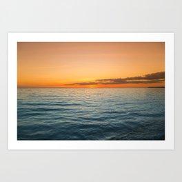 Brilliant Sunset Art Print