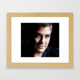 George Clooney Framed Art Print