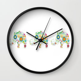 Elephant Trails Wall Clock