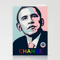 obama Stationery Cards featuring Obama LGBT by HUMANSFOROBAMA