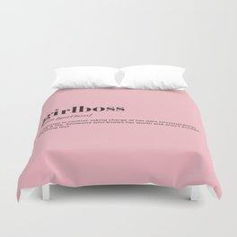 Girlboss definition Duvet Cover