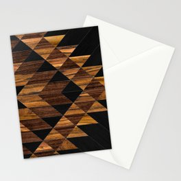 Urban Tribal Pattern 11 - Aztec - Wood Stationery Cards