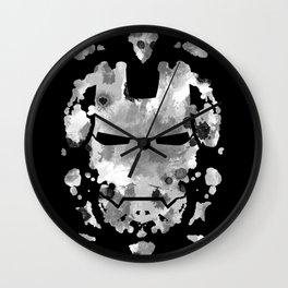 Iron Man parody of the Rorschach test Wall Clock