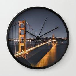 Golden Gate Glowing Wall Clock