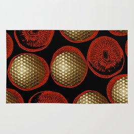 GOLD GOLF RED Rug