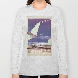Israel 1977 vintage travel poster. Long Sleeve T-shirt