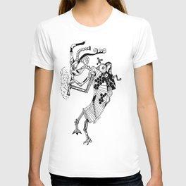 Steampunk Kokopelli Original Pen and Ink Design T-shirt