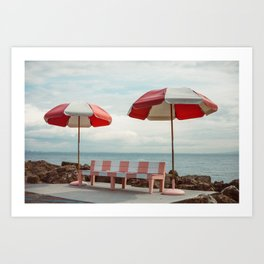 Candy Beach Art Print