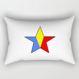 Flag of romania 6 -romania,romanian,balkan,bucharest,danube,romani,romana,bucuresti Rectangular Pillow