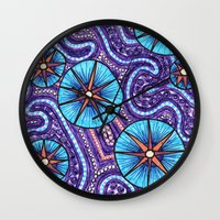 celestial Wall Clocks featuring Celestial by ErinNNelson