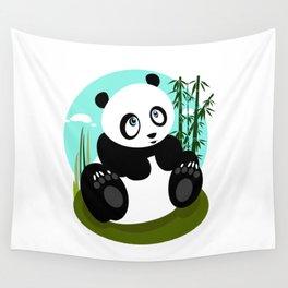 Baby Panda Wall Tapestry