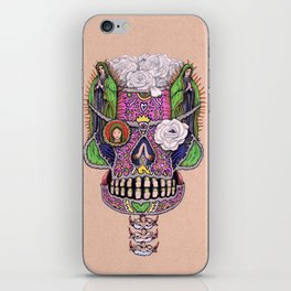 Our Lady of Guadalupe Skull Mask iPhone Skin