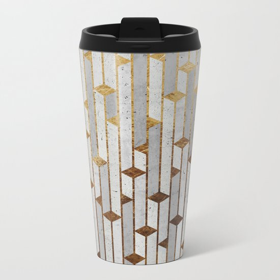 Concrete Skyscrapers Metal Travel Mug