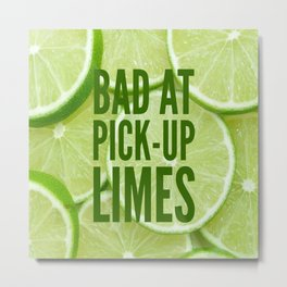 Pick Up Limes Metal Print