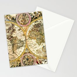 Gorgeous Old World Map Art from 15th Century Stationery Cards