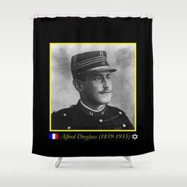 Aaron Gerschel- Portrait of Alfred Dreyfus Shower Curtain