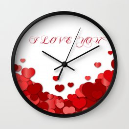 I Love You Valentine Wall Clock