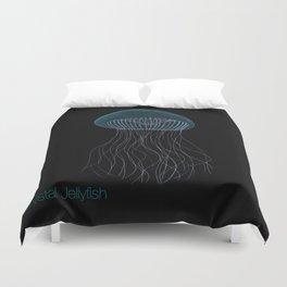 Bioluminescent Crystal Jelly Fish  Duvet Cover