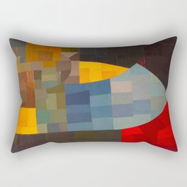 Otto Freundlich Komposition 1930 Mid Century Modern Abstract Colorful Geometric Painting Pattern Art Rectangular Pillow