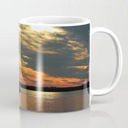 Sunset Over The Water Coffee Mug