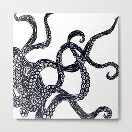 OCTOPUS INK Metal Print
