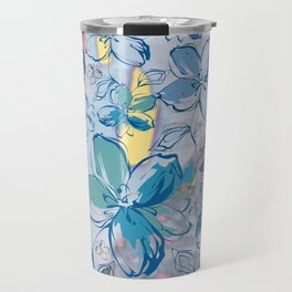 Drawing flowers - abstract background Travel Mug
