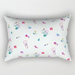 Medical Mania - White Rectangular Pillow