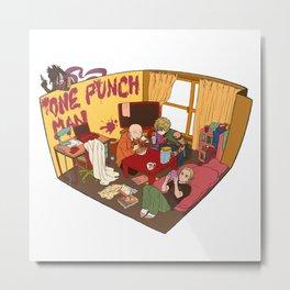One Punch-Man Saitama's Room Metal Print