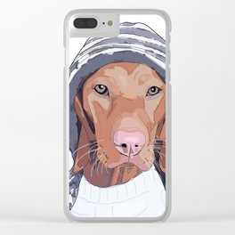 Vizsla Dog Clear iPhone Case