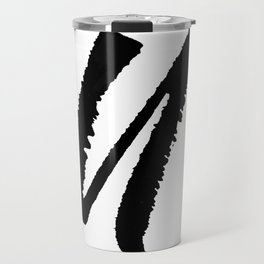Letter U Ink Monogram Travel Mug