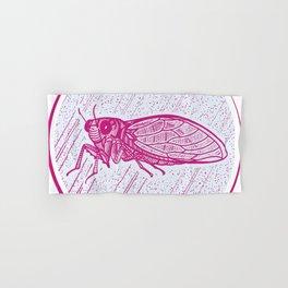 Insect's badge. Cicada. Hand & Bath Towel